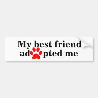 Mein bester Freund adoptierte mich Autoaufkleber