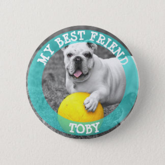 Mein bester Freund, HundeFoto-Knopf Runder Button 5,7 Cm