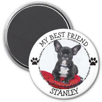 Mein bester Freund, HundPawprints Foto-Knopf Runder Magnet 7,6 Cm