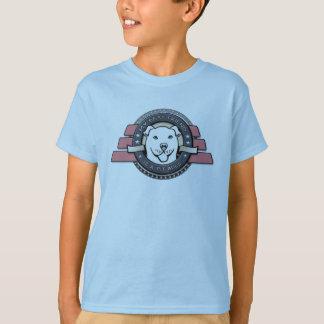 Mein bester Freund ist ein Pitbull-Emblem - das T-Shirt