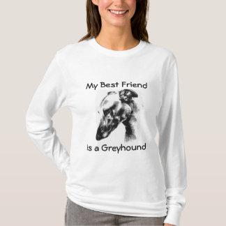 Mein bester Freund ist ein schöner Windhund-Hund T-Shirt