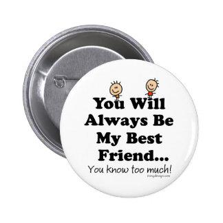Mein bester Freund Runder Button 5,1 Cm