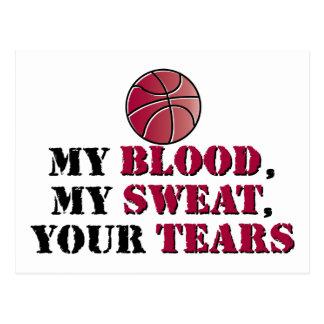 Mein Blut, mein Schweiß, Ihre Risse - Basketball Postkarte