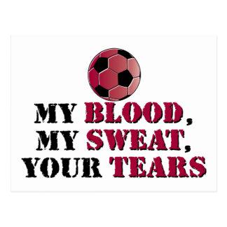Mein Blut, mein Schweiß, Ihre Risse - Fußball Postkarte