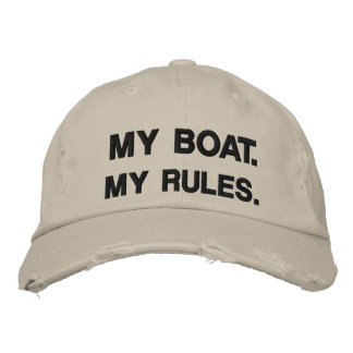 Mein Boot. Meine Regeln - lustige Bootfahrt Bestickte Baseballkappe