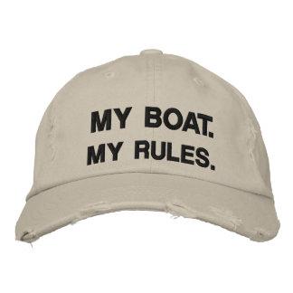 Mein Boot Meine Regeln - lustige Bootfahrt Bestickte Baseballkappe