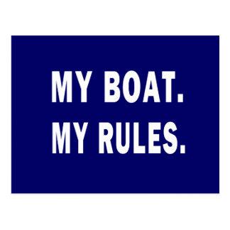Mein Boot. Meine Regeln - lustige Bootfahrt Postkarte
