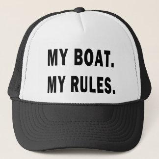 Mein Boot. Meine Regeln - lustige Bootfahrt Truckerkappe