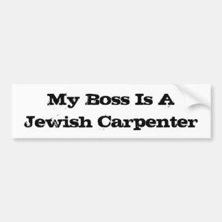 Mein Chef ist ein jüdischer Tischler Autoaufkleber
