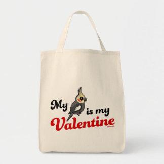 Mein Cockatiel ist mein Valentinsgruß Tragetasche