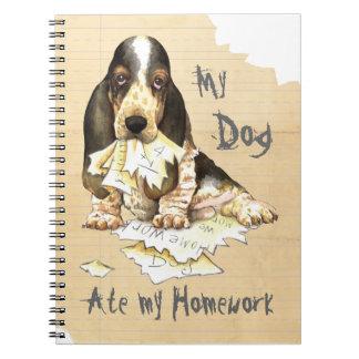 Mein Dachshund aß meine Hausaufgaben Notizblock