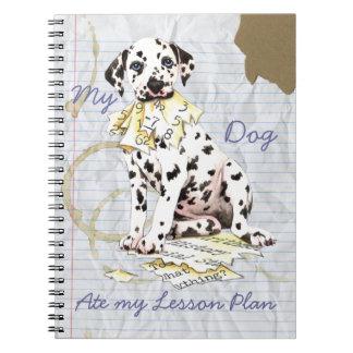 Mein Dalmatiner aß meinen Unterrichtsplan Notizblock