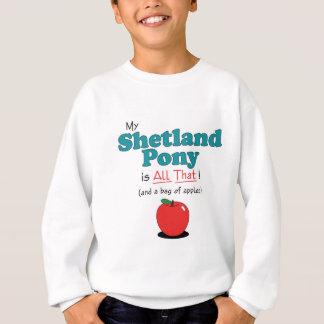 Mein die Shetlandinseln-Pony ist alles das! Sweatshirt