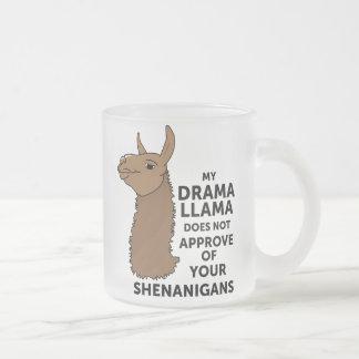 Mein Drama-Lama genehmigt nicht Ihre Shenanigans Matte Glastasse