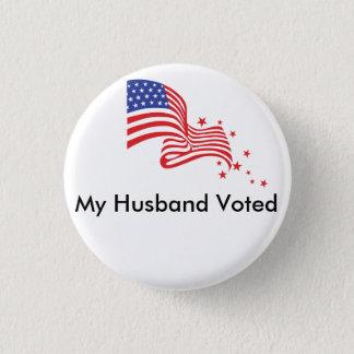 Mein Ehemann gewählt! Runder Button 3,2 Cm