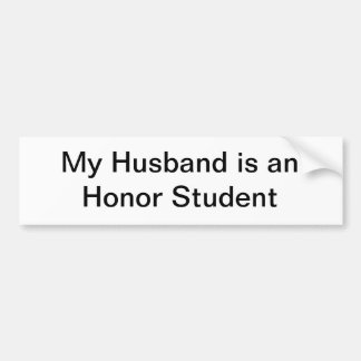 Mein Ehemann ist ein Ehrenstudent Autoaufkleber