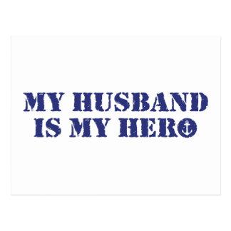 Mein Ehemann ist mein Held Postkarte