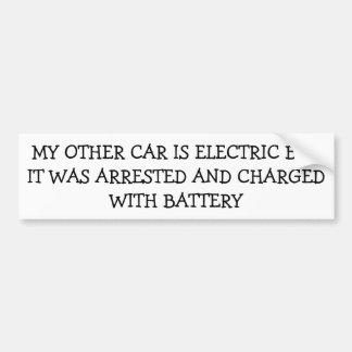 Mein elektrisches Auto wurde auflud mit Batterie Autoaufkleber