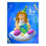 Mein Engelchen-dritter Geburtstag Postkarte