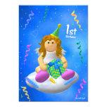 Mein Engelchen: Erster Geburtstag 12,7 X 17,8 Cm Einladungskarte