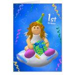 Mein Engelchen: Erster Geburtstag Karte