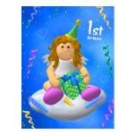 Mein Engelchen: Erster Geburtstag Postkarte