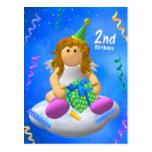 Mein Engelchen: Zweiter Geburtstag Postkarte