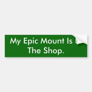 Mein epischer Berg ist im Geschäft Autoaufkleber
