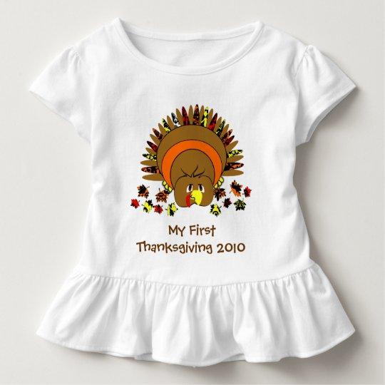 Mein erster Erntedank die niedliche Türkei Kleinkinder T-shirt
