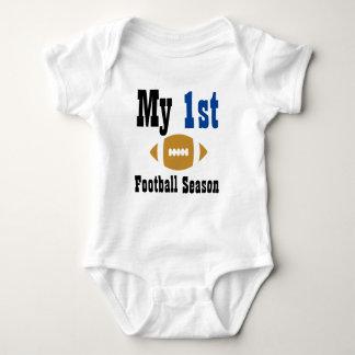 Mein erster Fußballsaison-Baby-Bodysuit Baby Strampler