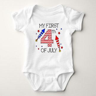 Mein erstes 4. des Juli-Säuglings-Körper-Anzugs Baby Strampler