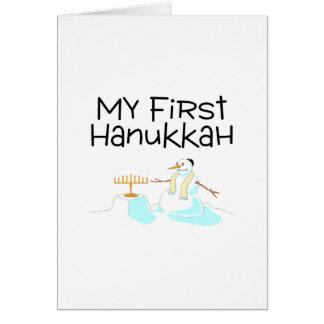 Mein erstes Chanukka (Schneemann) Karte