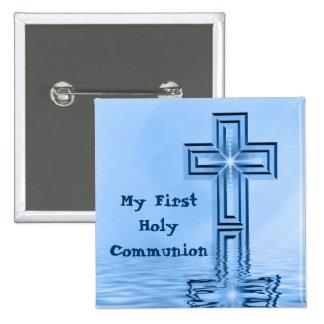 Mein erstes heilige Kommunions-Knopf-Button Quadratischer Button 5,1 Cm