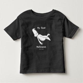 Mein erstes personalisiertes Halloween (für dunkle Kleinkind T-shirt