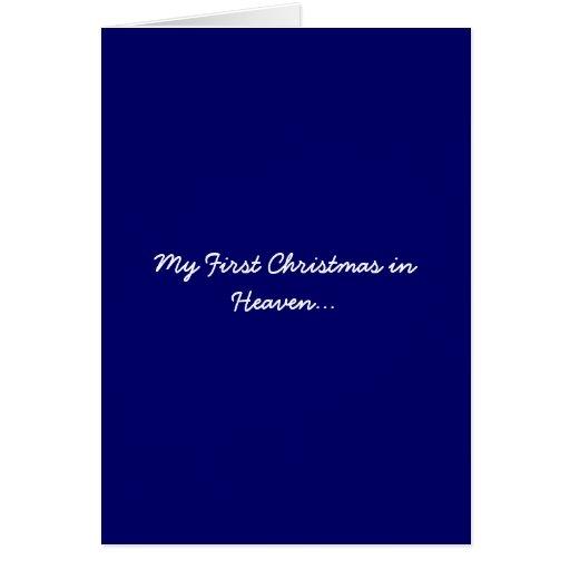 Mein erstes Weihnachten im Himmels-Blau Karte