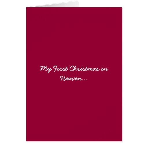 Mein erstes Weihnachten im Himmels-Rot Karte