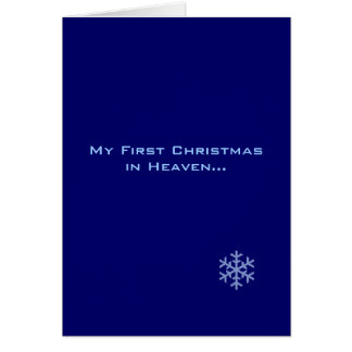 Mein erstes Weihnachten in der Grußkarte