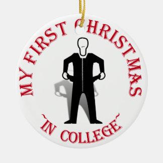 Mein erstes Weihnachten in der Uni Keramik Ornament