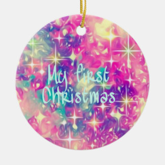 Mein erstes Weihnachten Rundes Keramik Ornament