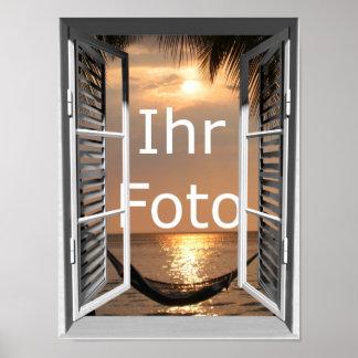 Mein Fensterblick Hochformat Poster
