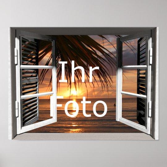 Mein Fensterblick Querformat Poster