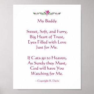 Mein Freund - Katze Poster