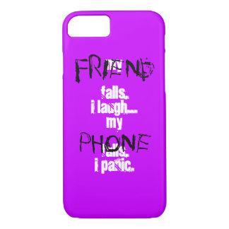 Mein Freund, mein Telefonschwarzes lila iPhone 7 iPhone 8/7 Hülle