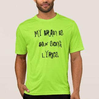 Mein Gehirn ist das T-Stück 80% Lied-Texte Männer T-Shirt