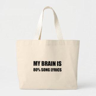 Mein Gehirn ist ein 80 Prozent-Lied-Texte Jumbo Stoffbeutel