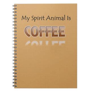 Mein Geist-Tier ist Kaffee Notizblock