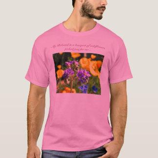 Mein geliebtes ist ein Blumenstrauß der Wildblumen T-Shirt