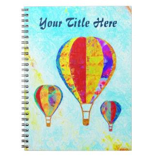 Mein gewundenes Notizbuch der schönen Ballone Spiral Notizblock