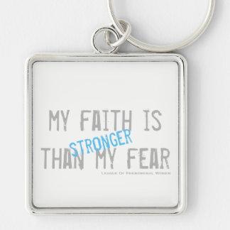 Mein Glaube ist stärker als meine Furcht Schlüsselanhänger