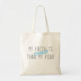 Mein Glaube ist stärker als meine Furcht Tragetasche